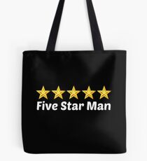 5 star man Tote Bag
