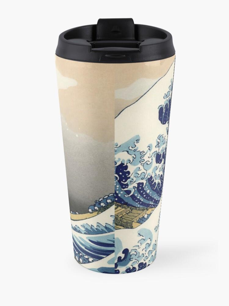 Alternate view of Great Wave Travel Mug