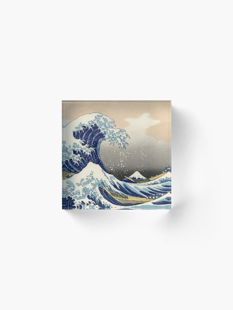 Alternate view of Great Wave Acrylic Block