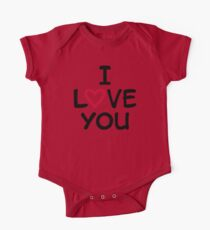 I love you red heart One Piece - Short Sleeve