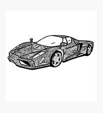 Sports car mandala art Photographic Print