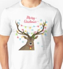Deer with Christmas Lights Unisex T-Shirt