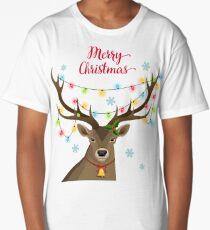 Deer with Christmas Lights Long T-Shirt