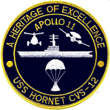 "USS Hornet CVS-12 ""Official"" Apollo 11 Recovery Crest by Spacestuffplus"