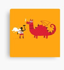 Dragon BBQ Canvas Print