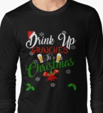 Funny Drink Up Grinches It's Christmas Designs For Beer Lovers T-Shirt