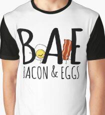 Cute BAE T-Shirt Bacon And Eggs Kawaii Food Shirt Graphic T-Shirt