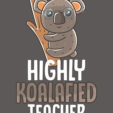 Highly Koalafied Teacher Shirt Koala Gift Tee For Educators by artbyanave