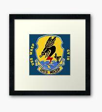 USS Wasp (CV/CVA/CVS-18) for Dark Colors Framed Print