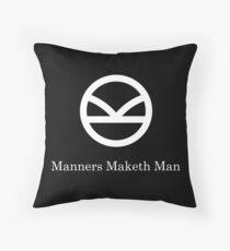 Kingsman Secret Service - Manners Maketh Man Throw Pillow