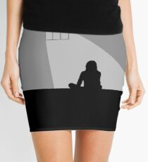 Grey Cover - Blank Mini Skirt