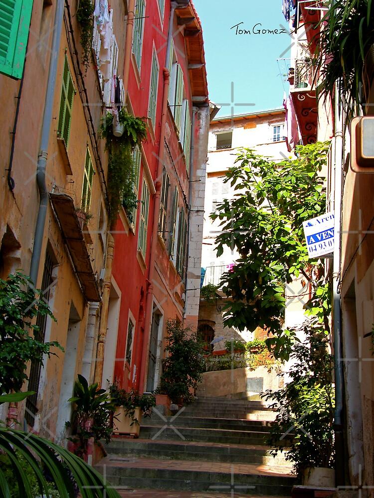 Villefranche Alleyway by Tom Gomez
