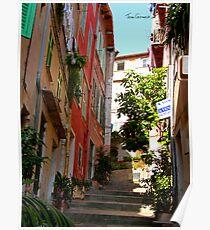 Villefranche Alleyway Poster