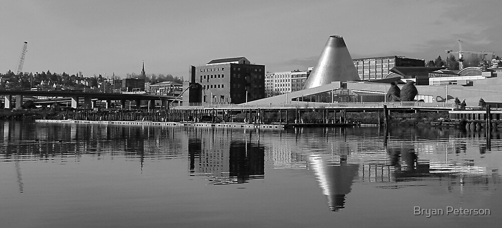 Tacoma Waterfront in Black and White by Bryan Peterson
