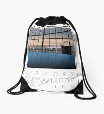 Poster Airport Waiting Drawstring Bag