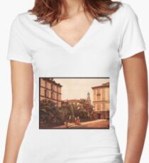 A vintage victorian era photograph Women's Fitted V-Neck T-Shirt