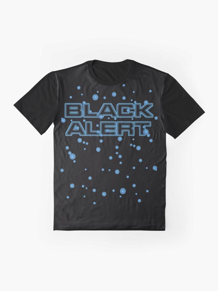 T-shirt graphique ''Alerte noire': autre vue