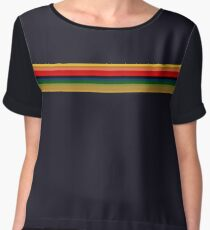 13th Doctor - Rainbow Shirt Chiffon Top