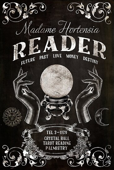 """""""Crystal Ball Reader Vintage Sign"""" Posters By Mindydidit"""