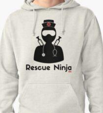 Sudadera con capucha Ninja de rescate - enfermera registrada divertida