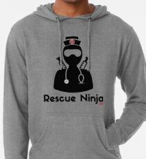 dfd4faecc78f3 Rescue Ninja - Funny Registered Nurse Lightweight Hoodie