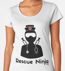 Rescue Ninja - Funny Registered Nurse Women's Premium T-Shirt