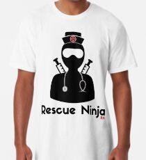 6e2307b8dd860 Rescue Ninja - Funny Registered Nurse Long T-Shirt