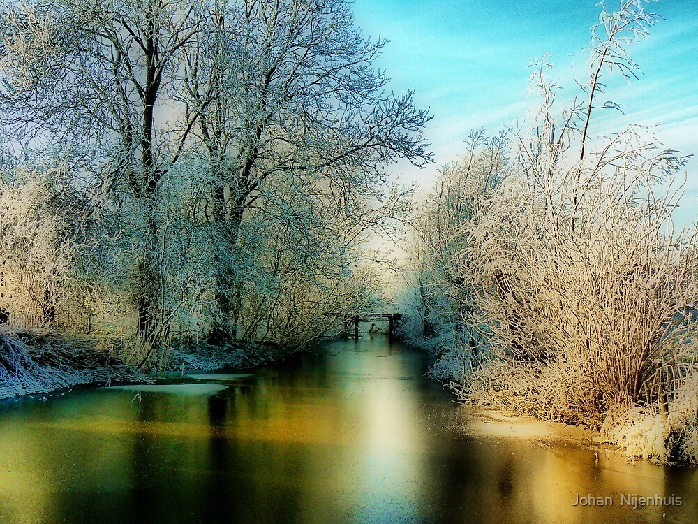 A GOLDEN WINTER STREAM by Johan  Nijenhuis
