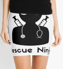 Rescue Ninja - Funny Registered Nurse Mini Skirt