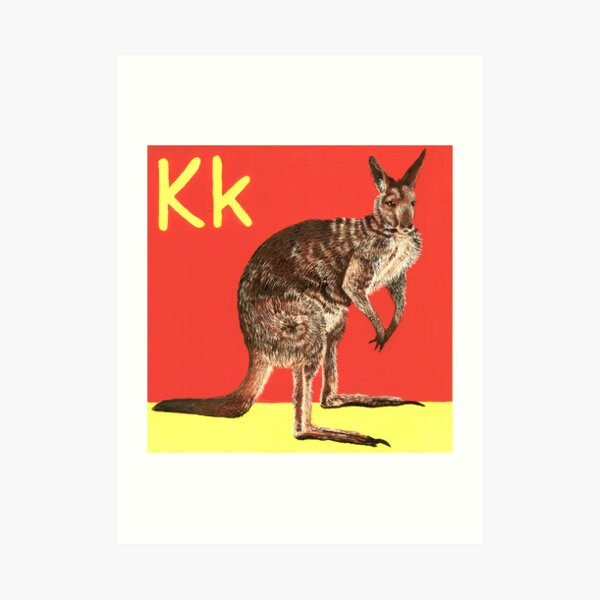 K is for Kangaroo Art Print