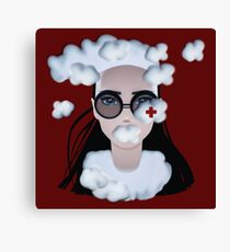 CUMULUS Surreal Seasonal Girl Portrait with clouds Canvas Print