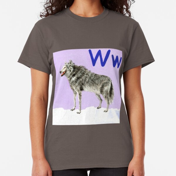 W is for Wolf  Classic T-Shirt