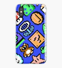 Super Mario Bros. 3 / Items 2 / pattern / blue sky iPhone Case