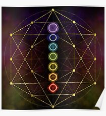 Colorful Glowing  Chakras  Poster