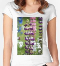 Lupin Flower Women's Fitted Scoop T-Shirt