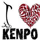 Kenpo T Shirt Design I Love Kenpo by MartialArtsNerd