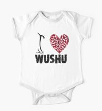 Wushu T shirt Design I Love Wushu One Piece - Short Sleeve