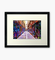 Bourke Street Mall - Alley 1 Framed Print