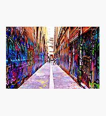Bourke Street Mall - Alley 1 Photographic Print