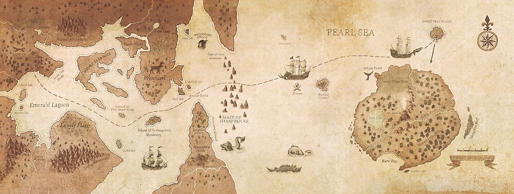 The Antlered Ship_Map Endpapers