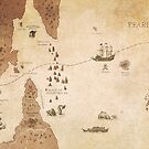 The Antlered Ship_Map Endpapers by Eric Fan