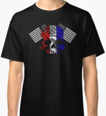 American Skull and Flags  Classic T-Shirt