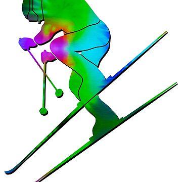 Tie-Dye Skier by feralbeagle