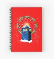 A WARM & COMFORTABLE TARDIS IN THE SNOWSTORM  Spiral Notebook