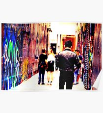 Bourke Street Mall - Alley 2 Poster