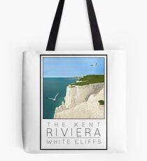 Poster Riviera White Cliffs Tote Bag