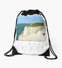 Poster Riviera White Cliffs Drawstring Bag