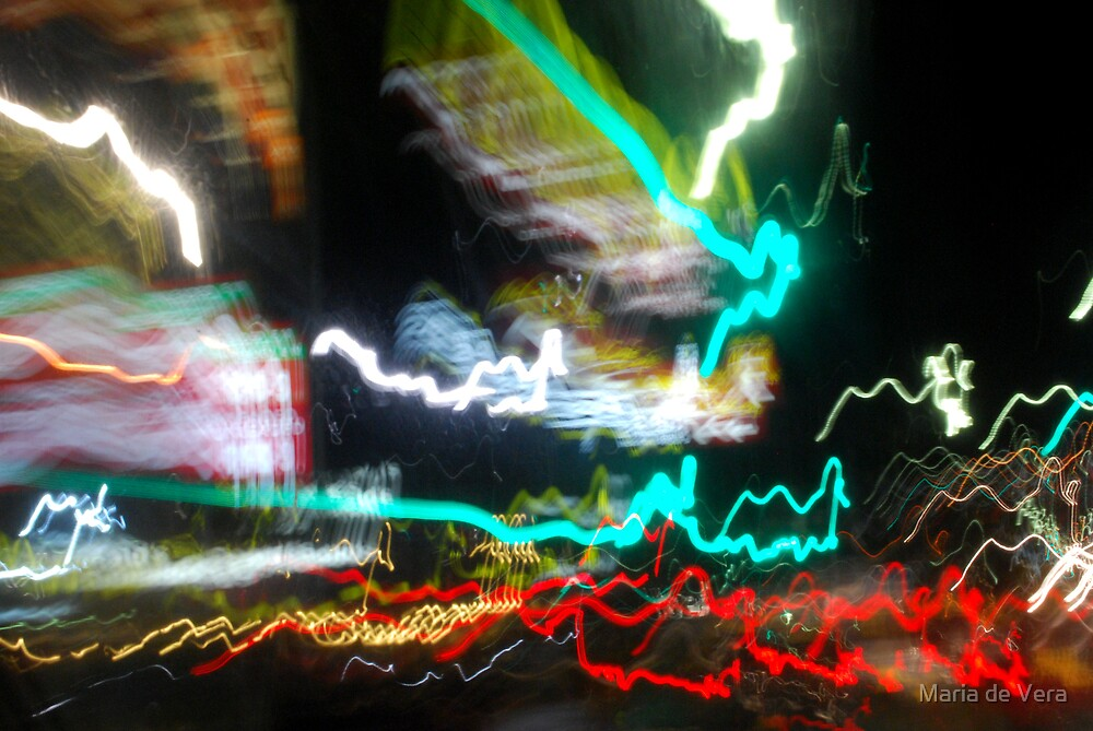 Blurred City by Maria de Vera