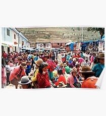 Market Day, Pisac, Peru Poster
