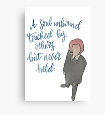 A Soul Unbound Dana Scully X Files Quote Canvas Print